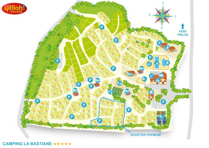 plan du camping par quartier