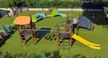 L'aire de jeu pour enfants du camping la Bastiane