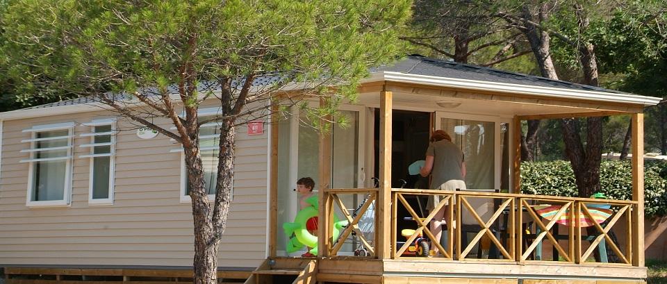 Le mobile-home Arizona 4, vue de l'extérieur