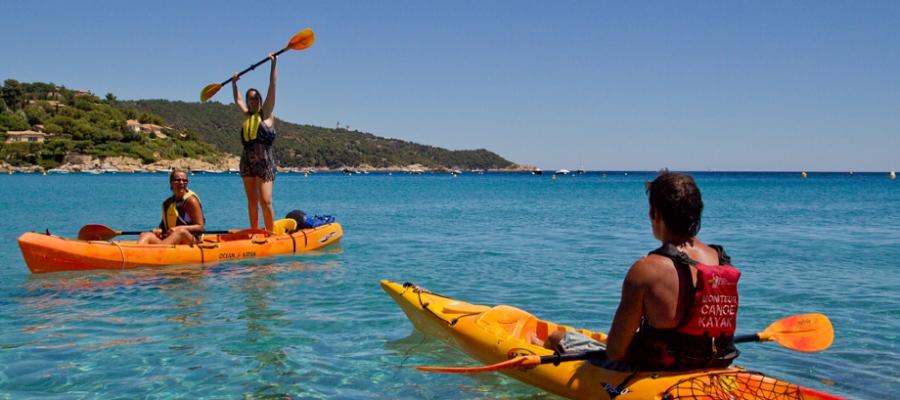 Canoe Kayak en mer