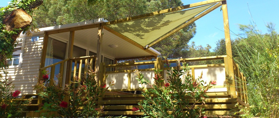 La terrasse du mobile-home VIP 4