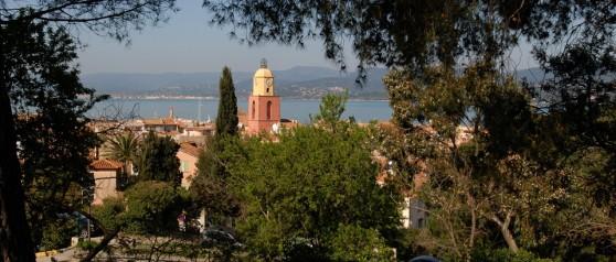 Vue de Saint-Tropez, aux alentours du camping